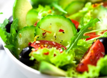 Avocado Salad with Warm Sesame Vinaigrette