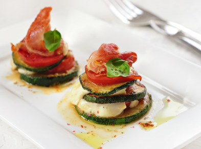 Buffalo Mozzarella Caprese and Grilled Zucchini