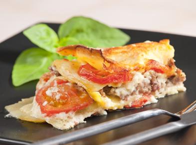 Carb Wise Roasted Vegetable & Turkey Lasagna