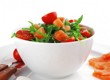 Salmon Salad with Basil Dressing