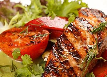 Swiss Salmon Steak With Garden Radish Salad