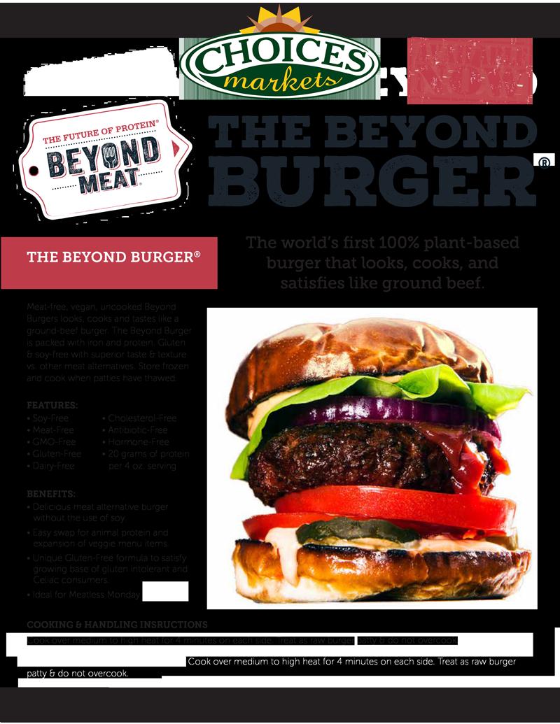 Beyond-Meat-GFS-Canada-Beyond-Burger-120117 | Choices Markets