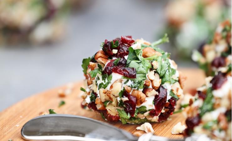 Vegan Cranberry Cheese Ball