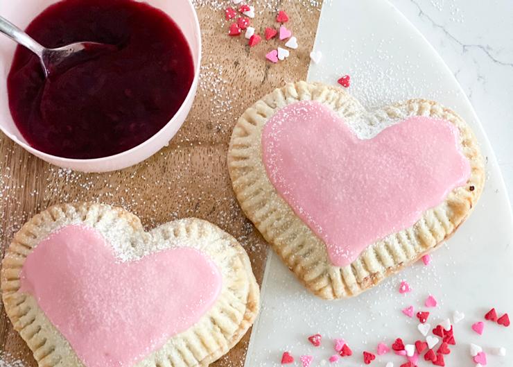 The Cake Mama's Vegan Raspberry Heart Shaped Hand Pies
