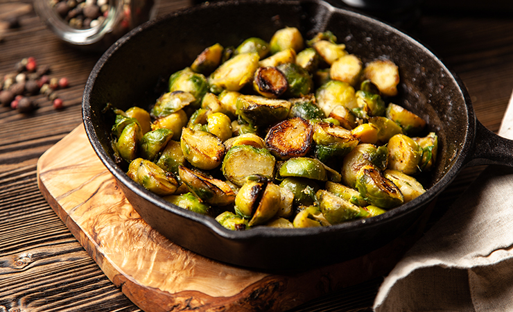 Roasted Brussels Sprouts with Pacific Foods Bone Broth